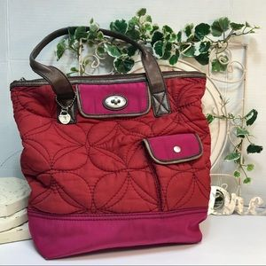 Large Fossil Quilted Keyper Tote